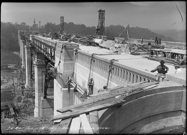Arthur S. Goss, Bloor Viaduct, Deck Looking West, 1917,  (Series 372, Subseries 10, Item 841)