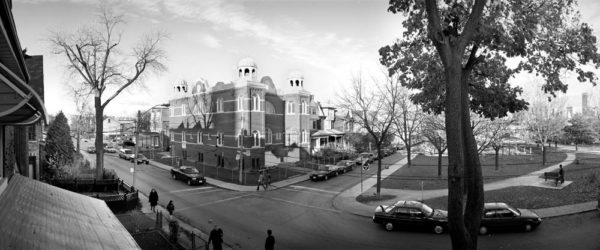 Robert Burley, Kiever Synagogue, View from the southwest, 2004, Inkjet print 44.5cm x 107cm