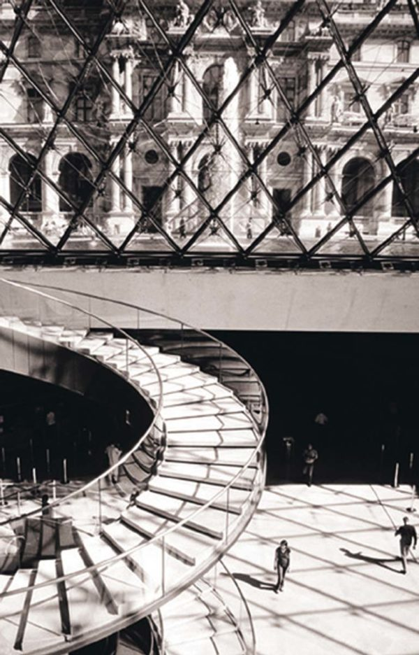Titka Seddighi, The Louvre-Stairs, 2003,  Ink jet print (Giclee), 20  x 16 inches