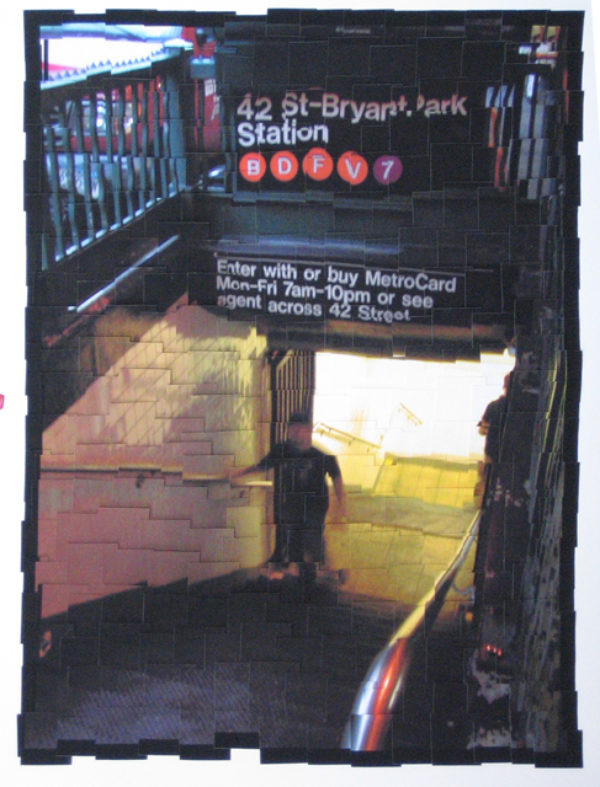 James Storie, 42nd & Bryant Park, 2004,  giclee assemblage, 48 x 36 inches