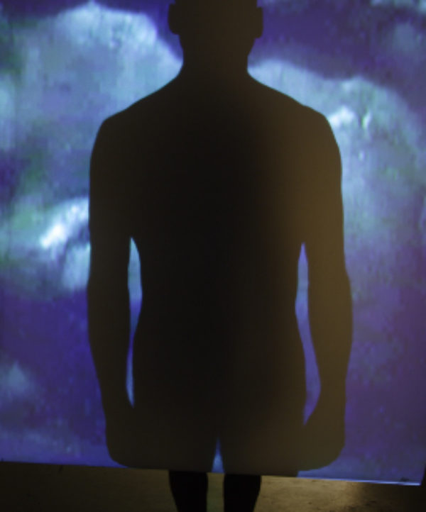 Marc Audette, Ombres imaginées, detail, 2006, Video installation,  4 m 88 x 2 m 43