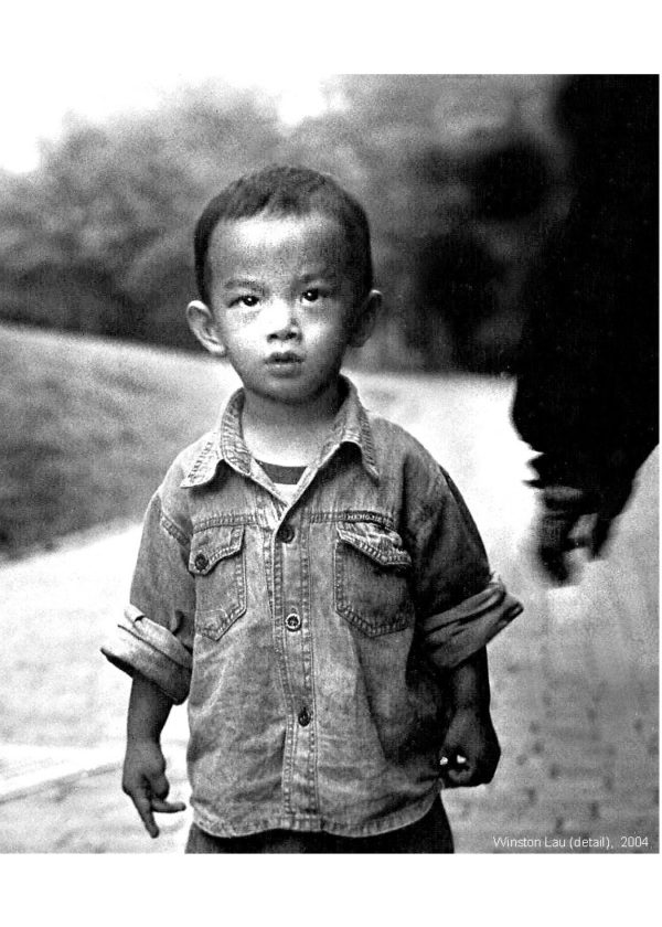 Winston Lau, Young Boy (detail), 2004, Photography