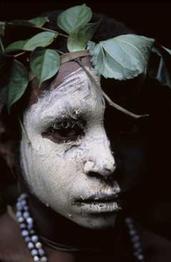 Elodie C Sandford, Huli boy Papua New Guinea, 2005, digital print 11 x 17