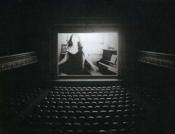 Courtesy: Gallery Barbara Weiss and the Artists, The Muriel Lake Incident, 1999, Multimedia construction with video projection and binaural audio, 73