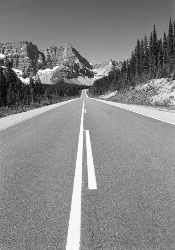 """Mark McCarvill, Icefield Parkway, Banff National Park, 2002, Carbon-black pigment ink print, 8""""x10"""""""