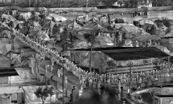 Richard Mosse, Moria in Snow Ii (detail), ©Richard Mosse. Private Collection. Courtesy Jack Shainman Gallery, New York.