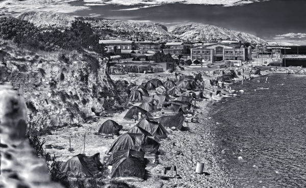 Richard Mosse, Souda Camp, Chios Island, 2017. © Richard Mosse. Courtesy of the artist and Jack Shainman Gallery, New York.
